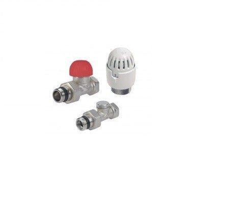 Radiaatori termoventiil + termostaat + sulgventiil (sirge) 1/2'' Carlo Poletti