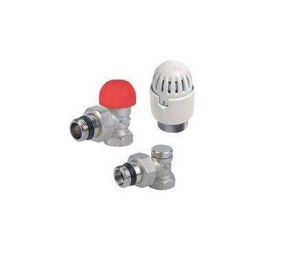 Radiaatori termoventiil + termostaat + sulgventiil (nurk) 1/2'' Carlo Poletti