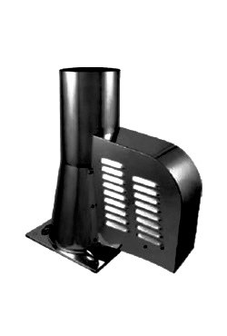 Korstna tõmbeventilaator GCK 200mm alusega kivikorstnale (must)  Darco