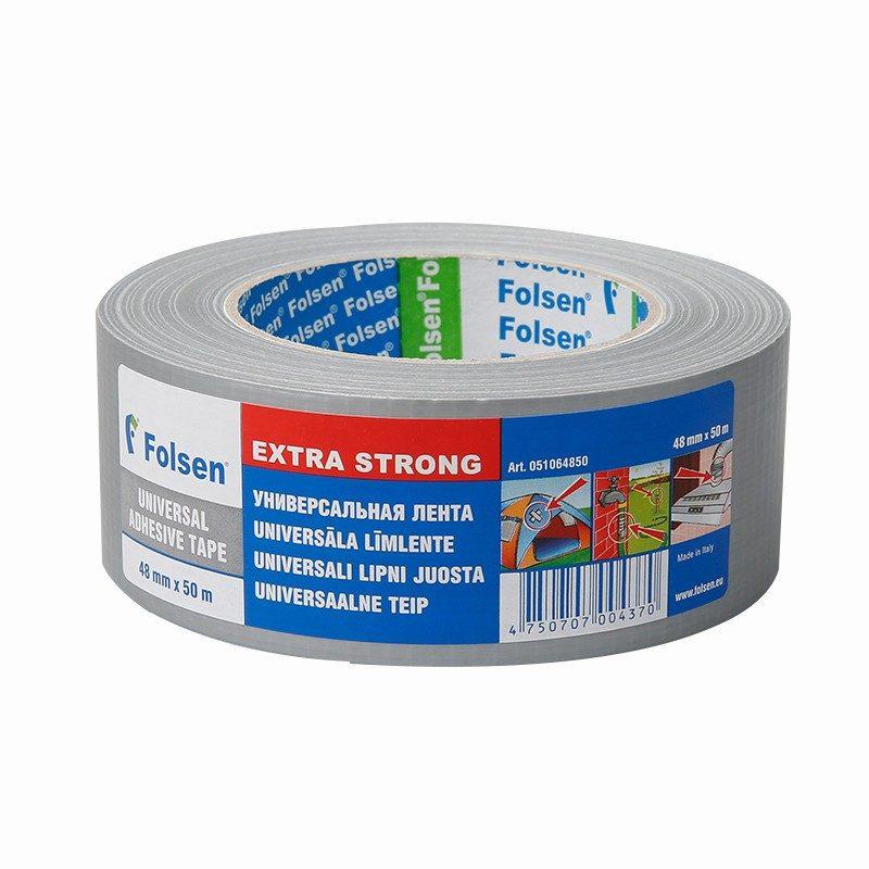 Niiskuskindel Extra Strong teip 48mmx25m, 270µm, hall, kangas/PE