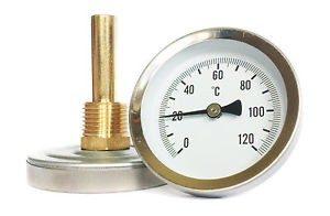 "Termomeeter 63mm 1/2"" 0-120°C tagant lühike(45mm)"