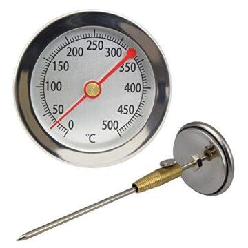 """Termomeeter suitsugaasile 63mm 1/4"""" 0-500°C tagant pikk(200mm)"""